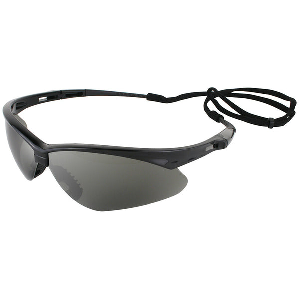 Jackson 3000356 Nemesis Safety Glasses with Black Frame & Smoke Mirror Lens