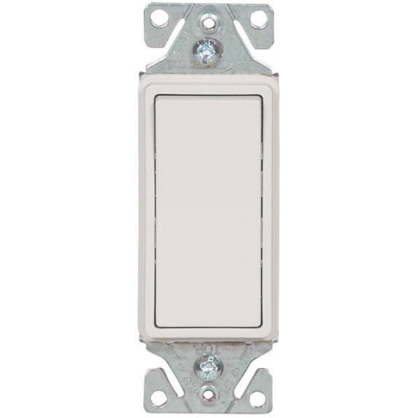 Cooper Wiring 7503W-BOX Decorator Standard Rocker 3-Way Switch, White, 15-Amp