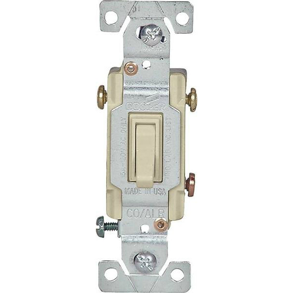 Cooper Wiring 5223V-7V-BU Copper/Aluminum Toggle Switches, Ivory, 3-Way