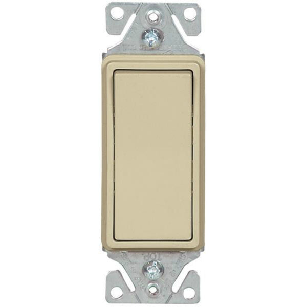 Cooper Wiring 7503V-BOX Decorator Standard Rocker 3-Way Switch, Ivory, 15-Amp