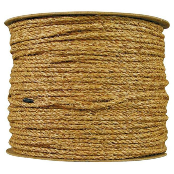 "Wellington 28767 Manila Fiber Twisted Rope, 1/4"" x 1200'"