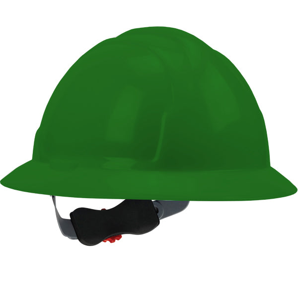 Safety Works SWX00426 Full Brim Style Hard Hat, Green