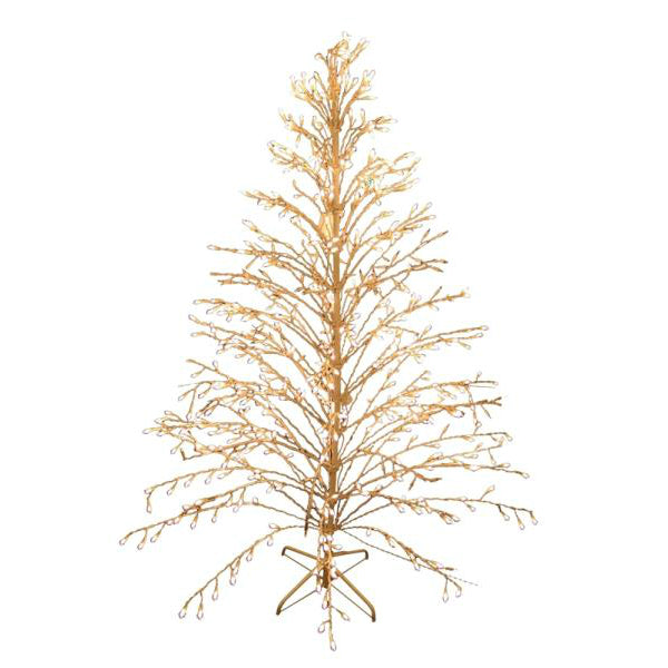 Santa's Forest 60949 Prelit Christmas Weeping Tree, Clear, 6'
