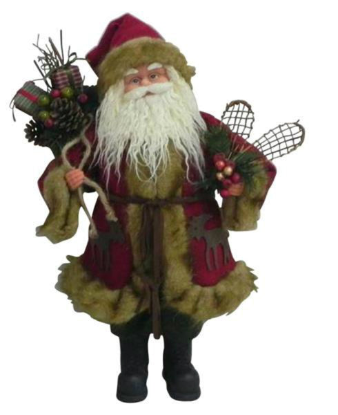 Santa's Forest 49205 Old World Standing Santa, 18""