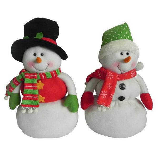 Santa's Forest 49211 Plush Christmas Snowman, Assorted, 16""