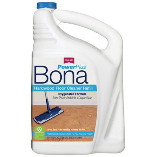 Bona WM850056001 Power Plus Hardwood Floor Cleaner Refill, 160 Oz