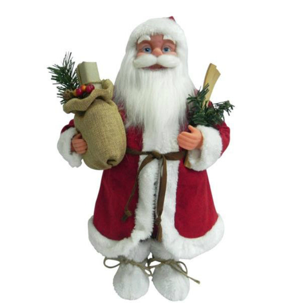 Santa's Forest 49207 Traditional Standing Santa, 18""