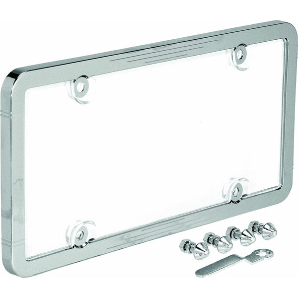 Bell 22-1-46398-8 Anti-Theft License Plate Frame, Chrome