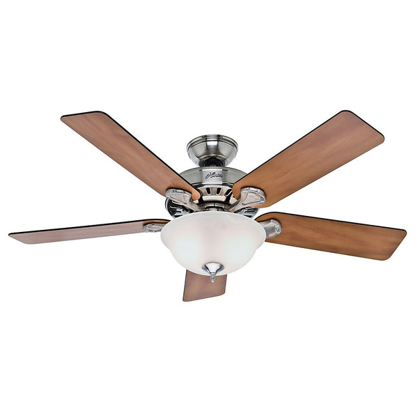 Hunter 53249 Pros Best Ceiling Fan with Light, Brushed Nickel, 52""