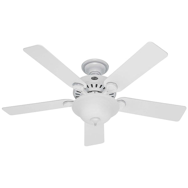 Hunter 53251 Pros Best Ceiling Fan with Light, White, 52""
