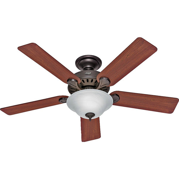 Hunter 53250 Pros Best Ceiling Fan with Light, New Bronze, 52""