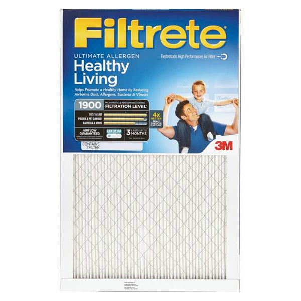 "Filtrete UA02DC-6 Ultimate Allergen Reduction Air Filter, MPR 1900, 20""x20""x1"""