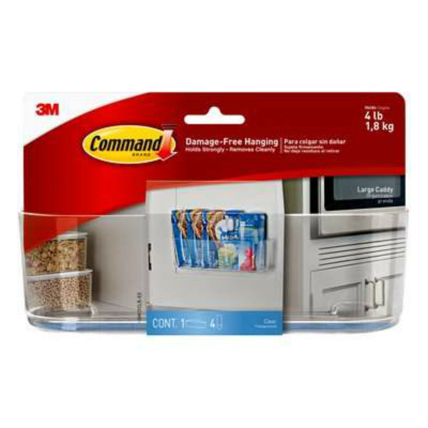 Command HOM-15 Clear Caddy, Large, 1-Caddy & 4-Strips