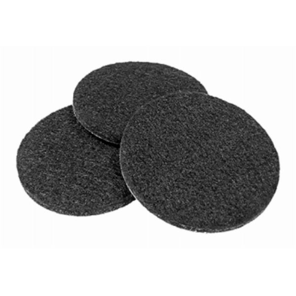 "TruGuard 93571TV Heavy-Duty Self Adhesive Round Felt Pads, Black, 2-1/4"", 4-Pack"