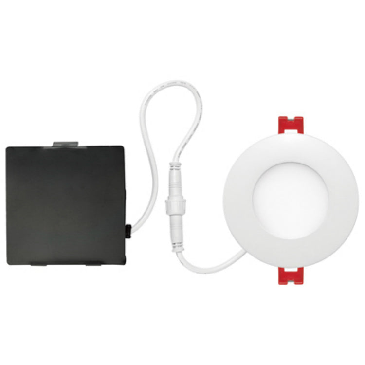Globe Electric 91205 LED Integrated Ultra Slim Recessed Kit, White, 6W