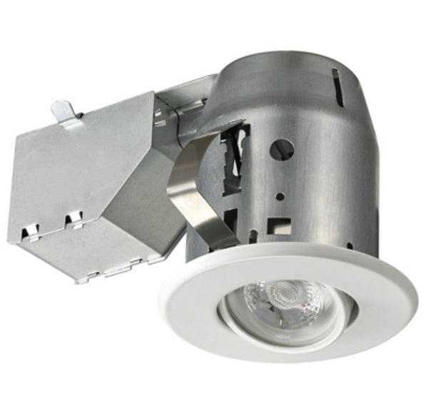 Globe Electric 91194 LED Recessed Kit Adjustable Gimbal, White, 3""