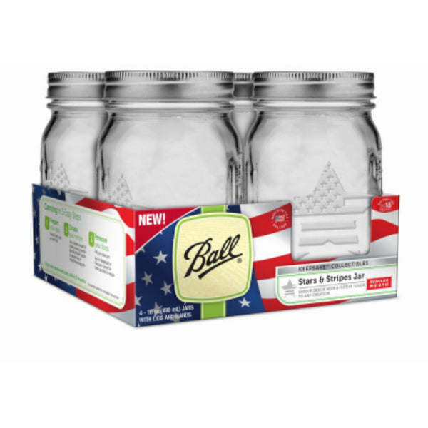 Ball 1440069056 Keepsake Collection Regular Mouth Jars, 16 Oz, 4 Pack