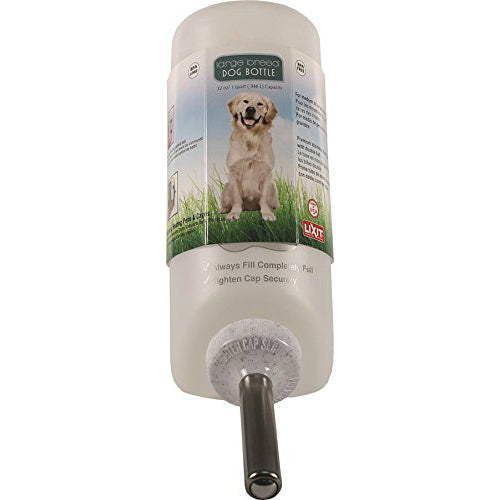 Lixit 30-0685-036 Water Bottle for Medium To Large Breed Dogs, 1 Qt, #DW-32