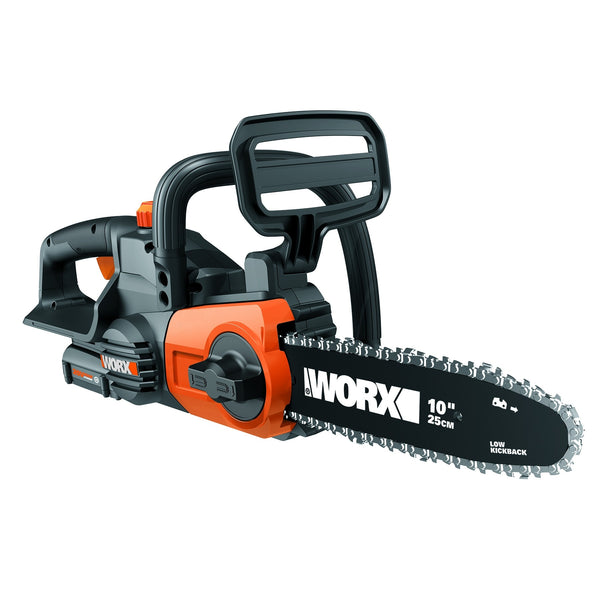 "Worx WG322 Cordless Chainsaw with Auto-Tension, 10"", 20V"