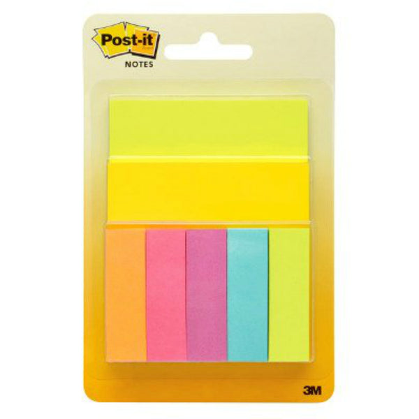 "3M® 343P-A Post-It® Assorted Colors Notes, 3"" x 3"", 50 Sheets/Pad"