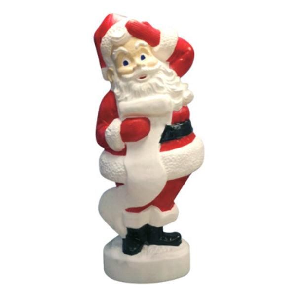 Union 75180 Large Plastic Christmas Santa Statute with 6' Cord, 43""