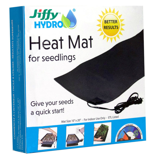 "Jiffy JHHEATMAT-8 Hydro Heat Mat for Seedling, 10"" x 20"""