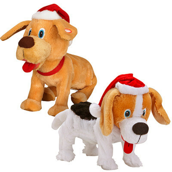Gemmy 97010 Christmas Animated Pouncing Puppies, Assorted, 6 Piece