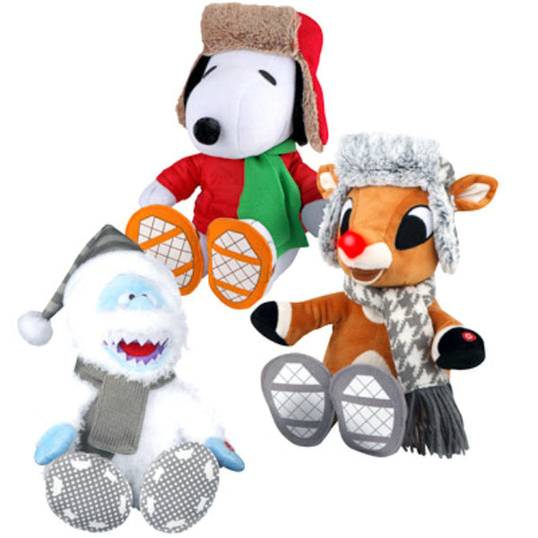 Gemmy 97036 Christmas Animated Plush Wiggle Feet, Assorted Styles, 6 Piece