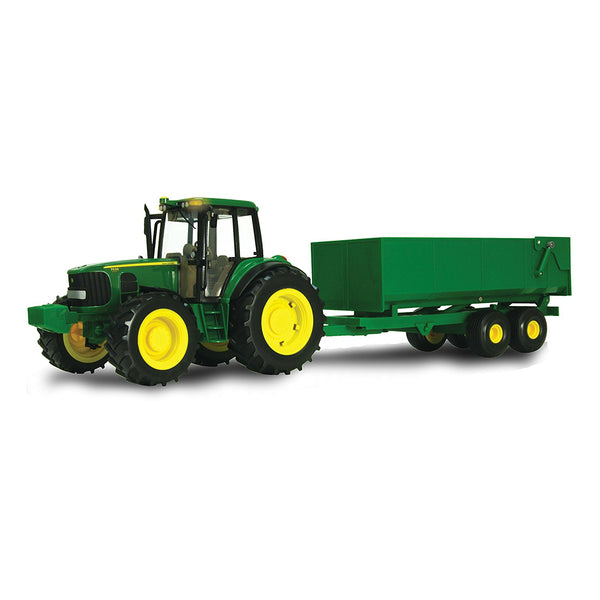 John Deere 46077 Big Farm 1/16 Scale Tractor & Wagon Set Toy