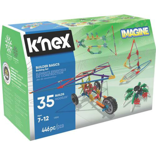 K'NEX 17010 Imagine Builder Basics Building Set Toy, 446 Pieces