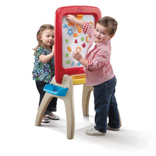 Step2 826800 All Around Vertical Writing Easel Toy for Two, Age 3 & Up