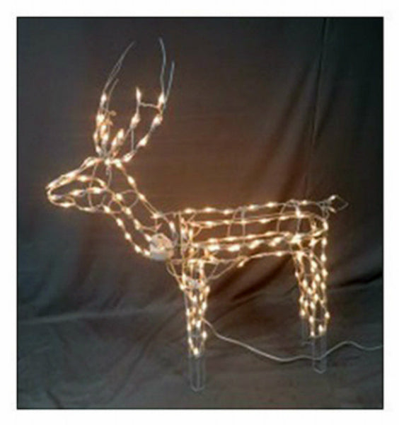 Holiday Wonderland 51-310-087 Lighted 3D Standing Buck w/ 105 Clear Light, 48 Inch