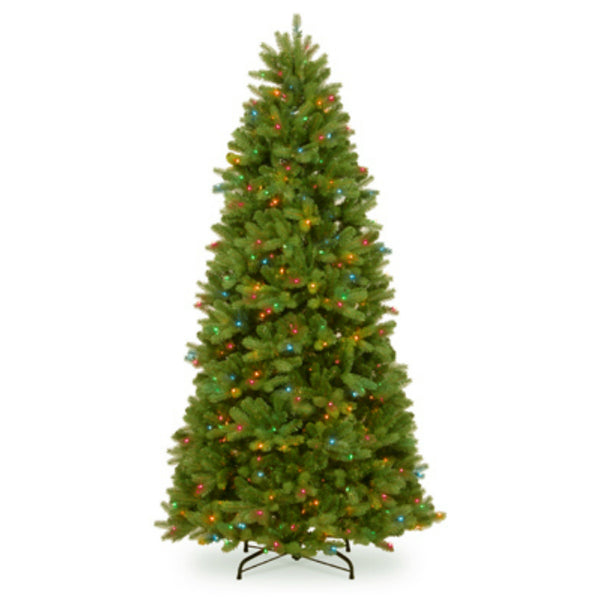 National PEND2-311-75 Newberry Spruce Hinged Tree, 750 Multi Color Light, 7.5'