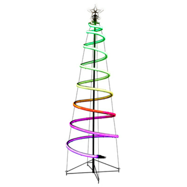 Holiday Wonderland X17ELNXM3DMK03126FT24VRGB Neon Flex Spiral Tree, 6 Feet