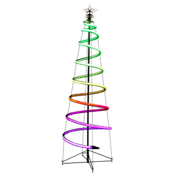 Holiday Wonderland X17ELNXM3DMK03126FT24VRGB Neon Flex Spiral Tree, 6'