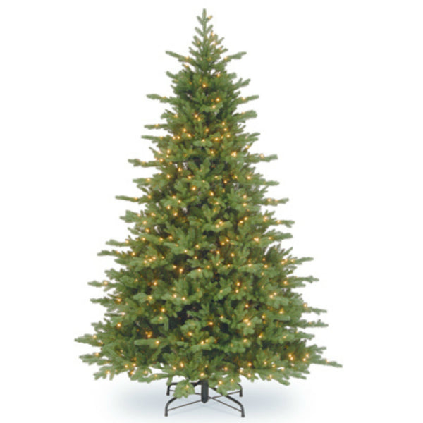National PEVN2-309P-90 Vienna Fir Artificial Hinged Tree, 1000 Clear Lights, 9 Feet