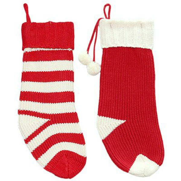 Dyno Seasonal Solutions 1208820CC Knit Stocking w/Hand Tag, Assorted Styles, 20 Inch