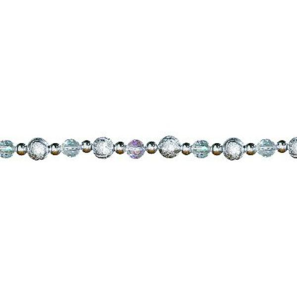 Dyno 585898-1002CC Christmas Bead Garland, Sterling/Iridescent/Silver, 8'