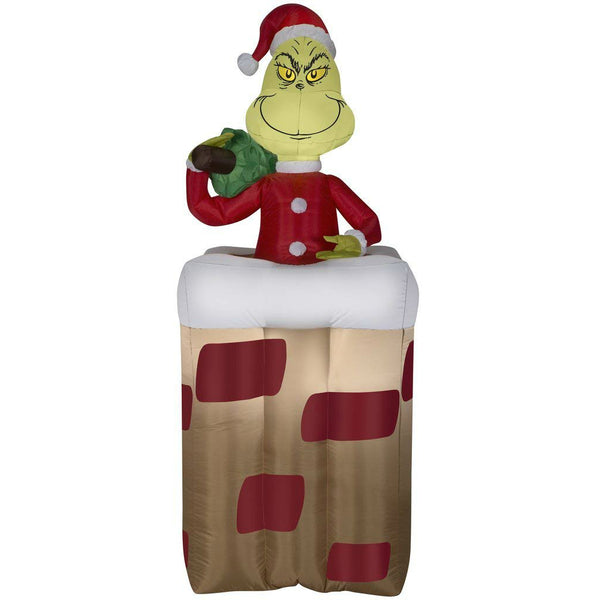 Gemmy 30949 Christmas Animated Airblown Inflatable Grinch, 5.5'