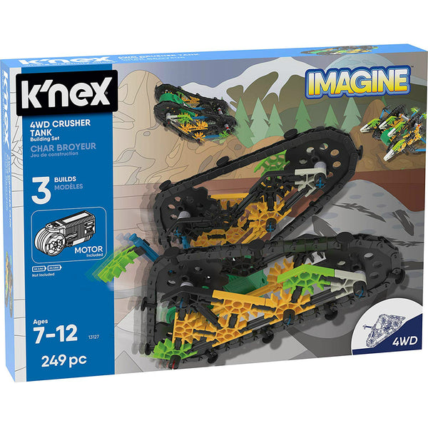 K'NEX 13127 Imagine 4Wd Crusher Tank Building Set Toy, 249-Pieces