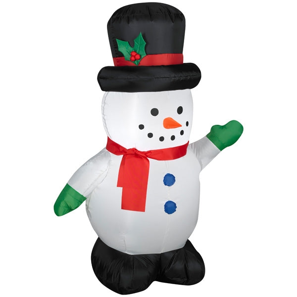 Gemmy 87645 Christmas Airblown Inflatable Snowman, 4'