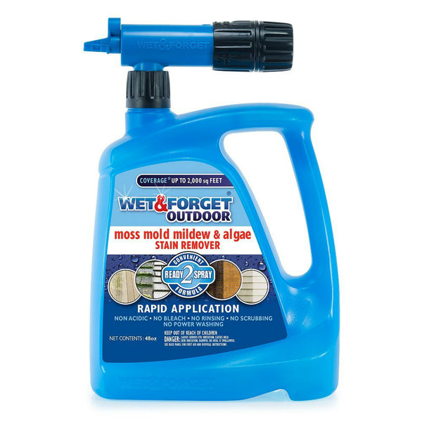 Wet & Forget 805048 Moss / Mold / Mildew & Algae Stain Remover, 48 Oz