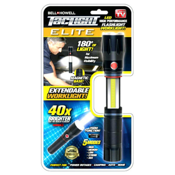 Bell-Howell 2010 Tac light Elite LED FlashLight with 5 Modes, As Seen On TV