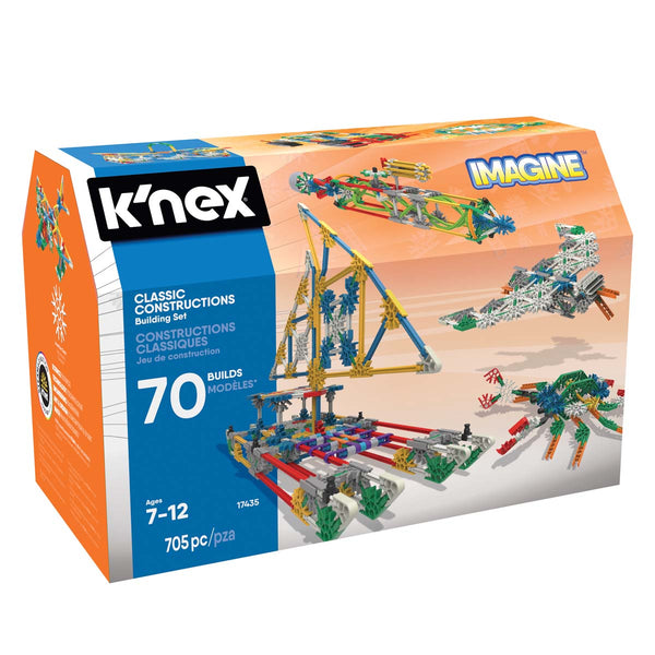 K'NEX 17435 Imagine Classic Constructions Building Set Toy, 705 Pieces
