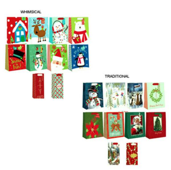 Expressive Design C10GBACD-4 Christmas Gift Bag, 10 Pack