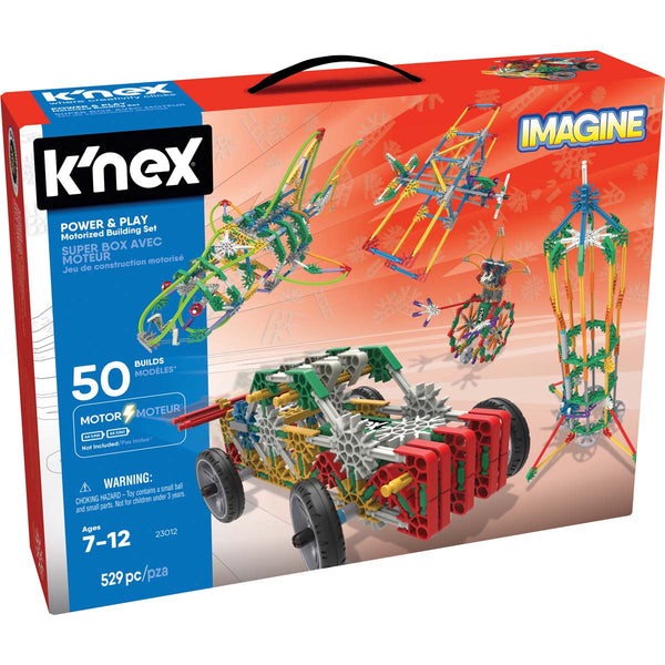 K'NEX 23012 Imagine Power & Play Motorized Building Set Toy, 529 Pieces