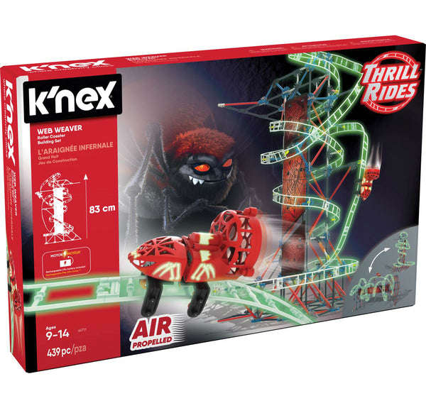 K'NEX 45717 Thrill Rides Web Weaver Roller Coaster Building Set Toy, 430 Pieces