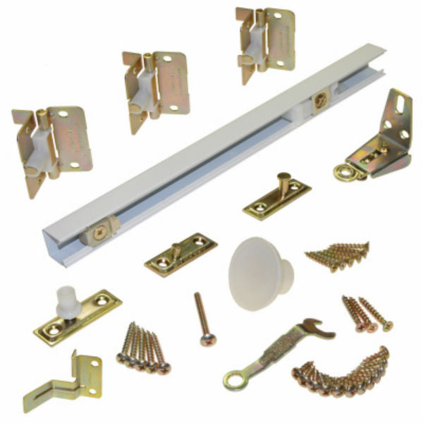 Johnson Hardware 170W363H Bi-Fold Door Hardware Set, White, 36""