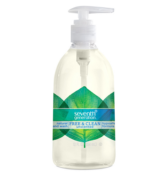 Seventh Generation 67232151 Free & Clean Unscented Hand Wash, 12 Oz