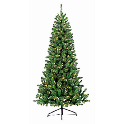 Puleo 301-T7274-70JFMLD3 PVC Christmas Tree w/ 300 Color Changing LED Lights, 7'